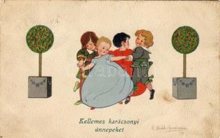 Christmas greeting card s: Mechle Grossmann, Karácsonyi üdvözlőlap s: Mechle Grossmann
