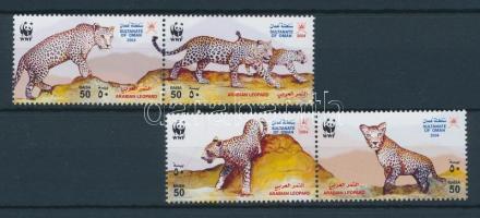 2004 WWF: Arab leopárd sor + kisív Mi 590-593