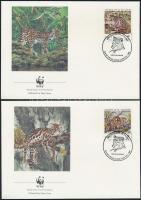 1988 WWF: Kistestű macskák sor Mi 1734-1737 4 db FDC-n