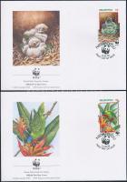 1998 WWF: Kéksapkás lóri sor Mi 326-329 4 db FDC-n