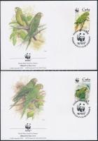 1998 WWF: Kubai aratinga sor Mi 4156-4159 4 db FDC-n