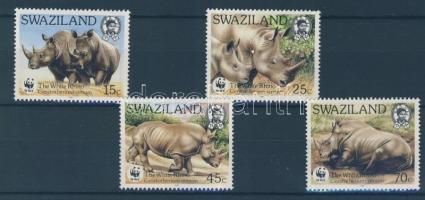 1987 WWF: Szélesszájú orrszarvú sor Mi 528-531