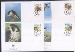 1992 WWF: Vándorsólyom Mi 147-150 (a sor magasabb értékei) 4 db FDC-n