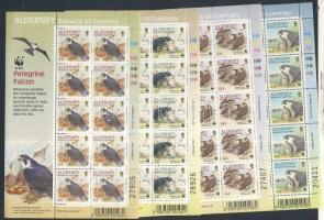 1992 WWF: Vándorsólyom kisívek Mi 147-150 (a sor magasabb értékei)