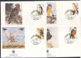 1991 WWF: Ragadozó madarak sor Mi 864-867 4 db FDC-n