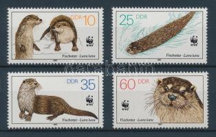1987 WWF Veszélyeztetett állatok (III) sor Mi 3107-3110 + sor 4 FDC-n