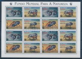 2000 WWF: Csíkos gnú kisív Mi 1757-1760