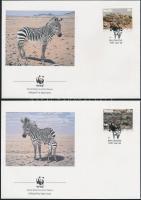 1991 WWF: Hartmann-hegyizebra sor Mi 702-705 4 db FDC-n