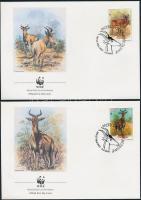 1991 WWF: Lichtenstein tehénantilop sor Mi 1231-1234 4 db FDC-n