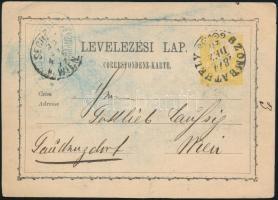 1871 2kr díjjegyes levelezőlap / PS-card SZOMBATHELY - WIEN
