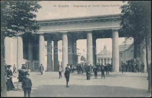 Dresden, Haupteingang zur Internat. Hygiene-Ausstellung / entrance of the Hygiene Exhibition