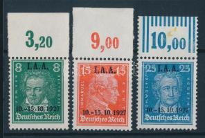 1927 Nemzetközi munkaügyi hivatal Mi 407-409