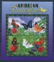 2001 A Karib-tenger növény- és állatvilága kisív Mi 565-570