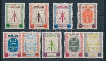 1963 Küzdelem a malária ellen sor Mi 38-46 + blokk Mi 5-7