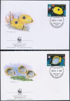 1997 WWF Pillangó hal négyestömb Mi 583-586 4-FDC-n