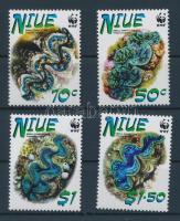 2002 WWF Óriáskagylók sor Mi 973I-976I