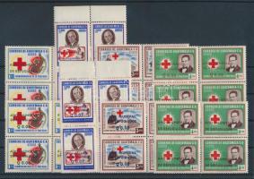 1960 A menekültek éve sor négyestömbökben Mi 643-650