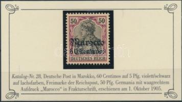 Marokkó 1905 Mi 28