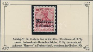 Marokkó 1906 Mi 36