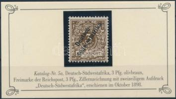 Deutsch Südwestafrika 1898 Mi 5a