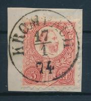 1871 Réznyomat 5kr KROMPACH