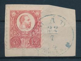 1871 Réznyomat 5kr kék MÁD