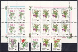 1993 Szobanövények sor Mi 296-300 + kisívsor