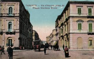 Taranto Aquinas Street, Giordano Bruno street