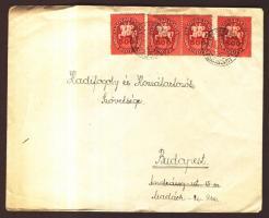 1946 (14. díjszabás) 4x Lovasfutár 500ezer p távolsági levélen