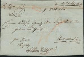 1824 Ex offo piros / red NEUTRA / UNGARN