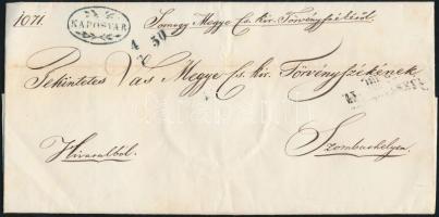 1850 Ex offo kék / blue KAPOSVÁR (Gudlin 300 pont) - SZOMBATHELY