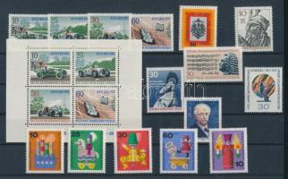 1971 15 klf bélyeg, teljes sorok + önálló kiadások + 1 blokk