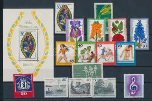 1976 16 klf bélyeg, teljes sorok + önálló kiadások + 1 blokk
