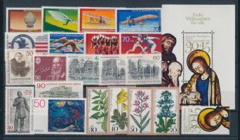 1978 21 klf bélyeg, teljes sorok + önálló kiadások + 1 blokk