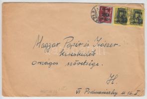 1945 5. díjszabás Nyomtatvány Kisegítő 20P/30f + 2x 5P/8f bérmentesítéssel