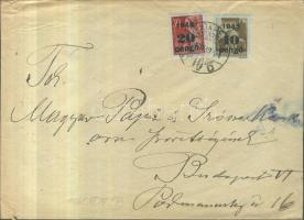 1945 5. díjszabás Nyomtatvány Kisegítő 10P/80f + 20P/30f bérmentesítéssel