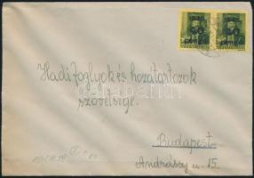 1945 5. díjszabás Helyi levél 2x Kisegítő 40P/8f bérmentesítéssel
