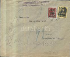 1945 5. díjszabás Helyi levél Kisegítő 20P/30f + 60P/18f bérmentesítéssel