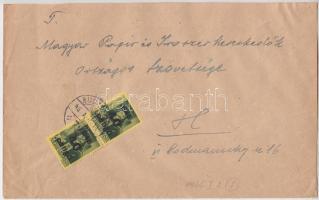 1946 5. díjszabás Helyi levél Kisegítő 2x 40P/8f bérmentesítéssel