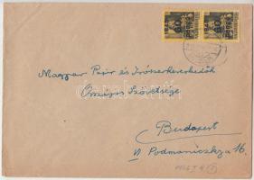 1946 5. díjszabás Távolsági levél Kisegítő 2x 60P/18f bérmentesítéssel