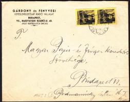 1946 5. díjszabás Helyi levél 500gr-ig Kisegítő 2x 60P/18f bérmentesítéssel