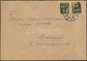 1945 5. díjszabás Távolsági levél Kisegítő 2x 60P/18f bérmentesítéssel