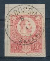 1871 Réznyomat 5kr / Mi 10 TURDOSSIN ÁRVA M.