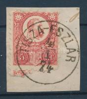 1871 Réznyomat 5kr / Mi 10 TISZA-ESZLÁR