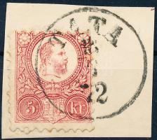 1871 Réznyomat 5kr TATA