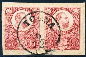 1871 Réznyomat 5kr pár TORNA