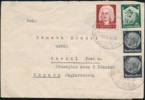 1935 Levél Magyarországra devizaellenőrzési zárszalaggal