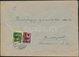 1945 (5. díjszabás) Távolsági levél Kisegítő 20P/30f + 100P/20P bérmentesítéssel