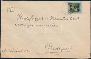 1945 (5. díjszabás) Távolsági levél 16x Kisegítő 7P/1f + 8P/20f bérmentesítéssel