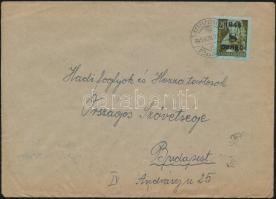 1945 (5. díjszabás) Távolsági levél 15x Kisegítő 8P/20f bérmentesítéssel